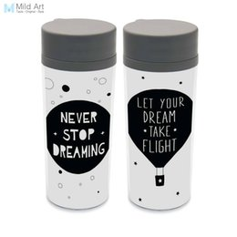 $enCountryForm.capitalKeyWord UK - Plastic Insulated Minimalist Dream Quotes Kids Cute Water Bottles 300ml Gift BPA Free Personalized Modern Nordic Black White