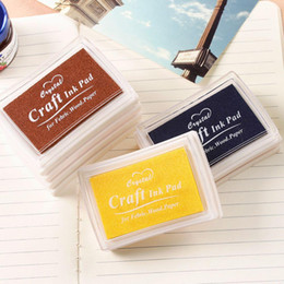 Wholesale Fashion Oil Based Craft Ink Pad Rubber Stamps For Fabric Wood Paper Wedding DIY