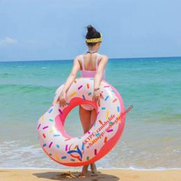 "Inflatable Pool Raft NZ - 2017 New Water Fun Intex Donut Tube Inflatable Swim Tube Float Hot Sale Inflatable Donut Swimming Pool Float Raft 42"""