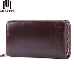 $enCountryForm.capitalKeyWord NZ - MISFITS Double Zipper Men Clutch Wallet Genuine Leather Business Wallet Brand Cowhide Male Purses Passport Holder Long Phone Bag