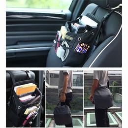 Auto Car Front Back Seat Pockets Organizer Driver Handbag Shoulder Bag With Waterproof Cover Styling Black