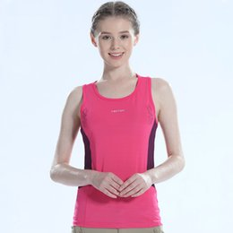 $enCountryForm.capitalKeyWord NZ - Tectop Brand LOGO Women's Vest for Running YOGA Sport Fitness Polyester Quick drying Breathable Elastic Sleeveless Shirt Women