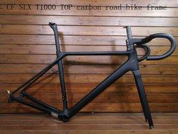62adb3d0b1 2018 novo CF SLX T1000 TOP bicicleta de estrada de carbono quadro bicicleta  de corrida de bicicleta conjunto de quadros + disco de freio de guidão de  fibra ...
