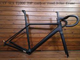 2018 nouveau cadre de vélo de route en carbone CF SLX T1000 TOP vélo cadre de vélo de course + frein à disque en fibre de carbone pouvant être XDB expédié