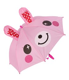 $enCountryForm.capitalKeyWord NZ - Lovely Cartoon Animal Ear Umbrella 3D Modeling Umbrellas Light Easy to Carry for Kids Gifts wen6685