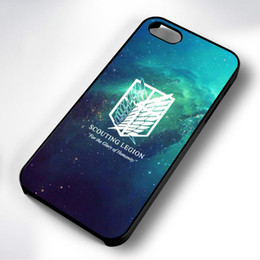 China Attack On Titan Scouting Rubber Phone Case For Iphone 5c 5s 6s 6plus 6splus 7 7plus Samsung Galaxy S5 S6 S6ep S7 S7ep suppliers
