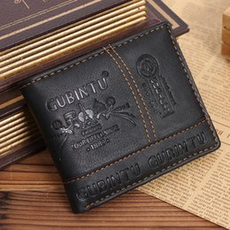 Black Blocks Canada - Men's Vintage RFID Blocking Trifold Wallet PU Leather ID Credit Card Black Color R024