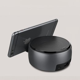 Iphone center online shopping - Wireless Bluetooth Speaker Stereo Sound Super Bass Music Player Cell Phone Stand Holder For PC iPhone Plus X Samsung Galaxy MIS185