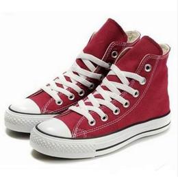 Venta al por mayor de Envío de la gota a estrenar 15 colores todo el tamaño 35-46 altas estrellas deportivas superiores Low Top zapatillas de lona clásicas zapatos casuales de las mujeres de los hombres