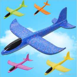 $enCountryForm.capitalKeyWord Australia - 48cm Kids Foam Throwing Glider model Air Plane Inertia Aircraft Toys Hand Launch Airplane Model To glide the plane Flying Toys