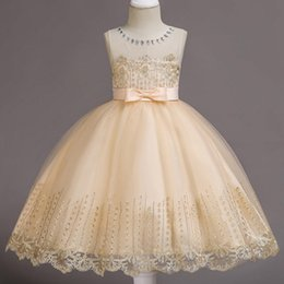$enCountryForm.capitalKeyWord UK - Cheap Cute White Ivory Ball Gown Long Sleeves Flowers Girls Dresses for Weddings Lace First Communion Dress Pageant Dresses with Bow 2018