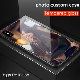 $enCountryForm.capitalKeyWord NZ - For iPhone 6 6s 7 8 plus X Luxury Fashion DIY Personalized customized name photo print picture tempered glass phone case cover