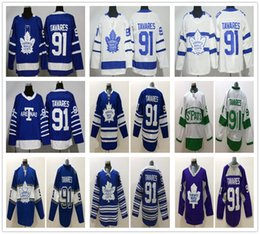 Top Quality Toronto Maple Leafs Stitched  91 John Tavares Jersey Blue White  Winter Classic Centennial 2018 Stadium Series Hockey Jersey 18574edfc