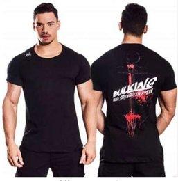 Venta al por mayor de Mens Casual Fashion Creativity camiseta impresa Man Gyms Fitness transpirable camiseta de algodón 2018 Summer New Male Tee Tops Ropa