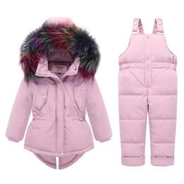 $enCountryForm.capitalKeyWord Australia - Winter children clothing sets Warm duck down jacket for baby girl children's coat snow wear kids suit Fur Collar