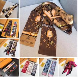 Роскошный бренд-дизайнер BAG-шарф Головные уборы для женщин с шелковыми накидками 100% Верхняя одежда для шелка Размер для 8 × 120 см