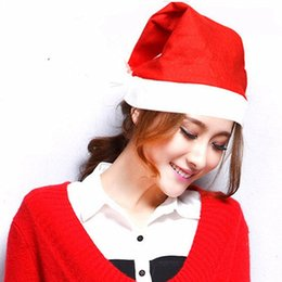 nonwoven hats Australia - Christmas Santa Claus Hats Nonwoven Fabric Cap Party Hats for Santa Claus Costume Christmas Decoration for Kids Adult Christmas Hat
