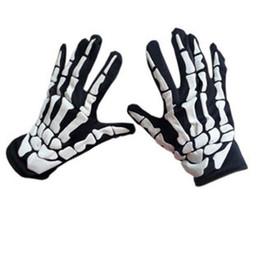 $enCountryForm.capitalKeyWord NZ - 2018 Halloween Horror Skull Claw Bone Skeleton Goth Novelty Racing Biker Full Gloves