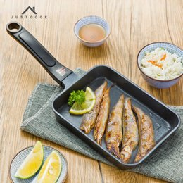 Steel Induction Canada - 17x12 Cm Japanese Tamagoyaki Omelette Pan Non Stick General Use For Gas And Induction Cooker Frying Pans Egg Pancake