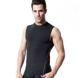 Best Wholesale T Shirts Australia - Quickly Dry Mens Running Shirts Compression Tight Gym Tank Top Fitness Sleeveless T-shirts Sport SHM Best Running Vest