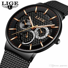 9607c45fa9a LIGE Fashion Mens Watches Top Brand Luxury Quartz Watch Men Casual Slim  Mesh Steel Date Waterproof Sport Watch Relogio Masculino