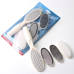 professional foot file callus UK - 4 in 1 Replaceable Feet Rasps Callus Remover File Professional Hard Dead Skin Remover Pedicure Tools Exfoliate Foot Care Kit For Nail Art