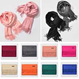 $enCountryForm.capitalKeyWord NZ - Fringed Cashmere Scarf Long Ladies Warm Solid Color Changeable Shawl Wrap Neckerchief Blankets Party Favor for Christmas FWX9-848