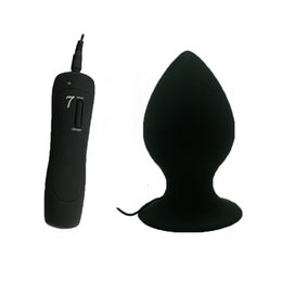 big toy vibrate UK - Super Big Size 7 Mode Vibrating Silicone Butt Plug Large Anal Vibrator Huge Anal Plug Unisex Erotic Toys Sex Products S M L D18111502