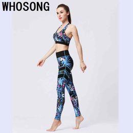 5c3cb52d1320e Tracksuit For Women 2 Piece Yoga Set Floral Print Women Bra+Long Pants  Sportswear For Fitness Sport Suit Sportswear