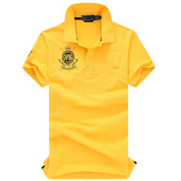 Wholesale big new jersey for sale - Group buy Size S XL Brand New VII Crown shirts Short Sleeve big horse Polo men s jerseys polo T Shirt Cotton Drop shipping