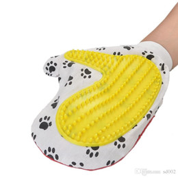 Eco dog products online shopping - Non Slip Massage Glove Cleaning Products Special Bath Pet Gloves Dog Grooming With Elastic Rubber Eco Friendly gl jj