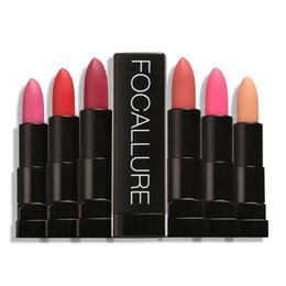 New Nude Lipsticks UK - New Pro Matte Lipstick Long-lasting Waterproof Lips Lipsticks Nude Lipstick Makeup Beauty Lips by Focallure free DHL