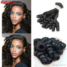 cheap remy hair extensions 2019 - Funmi Bouncy Curly Remy Human Hair Bundles Rabake Cheap Brazilian Funmi Hair Egg Curls Double Wefts Weave Extensions Dea