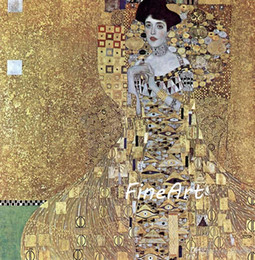 figure painting artists NZ - handmade canvas oil painting reproduction of famous artist Adele Block Bauer gustave klimt canvas art oil painting discount wall painting id