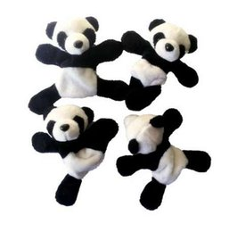 magnet plush UK - 1Pc 9*9cm Cute Soft Plush Panda Fridge Magnet Refrigerator Sticker Gift Souvenir Decor Panda Fridge Sticker