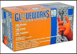 Venta al por mayor de Guantes nueva Ammex Corporación AMXGWON48100 Gloveworks HD naranja nitrilo Ammex guantes (caja de 100) envío gratuito