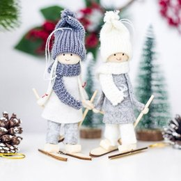 $enCountryForm.capitalKeyWord NZ - Christmas Angel Girl Ski Pendant Creative Kawaii Christmas Tree Decoration For Home Xmas Cute Doll Party Decoration Kids Gift Y18102609
