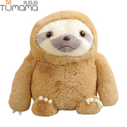 Sloth Toys NZ - Tumama 40CM Sloth Baby Doll Plush Toys Stuffed Dolls Kids Toys Animal Anime Movie Infant Soft Baby Appease Gift For Child