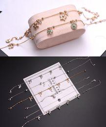 $enCountryForm.capitalKeyWord NZ - 2018 New Multi Designs Mixed Bracelet Titanium steel PU Leather Strands Rose Gold Plated Bangle Women Jewelry