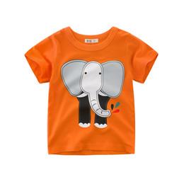 a3e17f141 New Baby Boys Summer Tops Tee Short Sleeved Shirt Cartoon Animals Children  T shirts for Boy Clothes Printd boys T shirts Kids Clothing