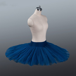 $enCountryForm.capitalKeyWord Australia - Professional Ballet Tutus Navy Blue Pancake Practice Rehearsal Platter Ballet Half Tutu Skirt Firm Tulle Professional Half Ballet Tutu
