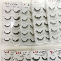 cherry eyelashes 2021 - 2018 New Red Cherry False Eyelashes 5 pairs pack 8 Styles Natural Long Professional Makeup Big Eyes High Quality