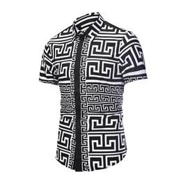 $enCountryForm.capitalKeyWord UK - Printed Men Dress Shirt Splashed Paint Pattern Printed 3D Shirt Slim Fit Male Short Sleeve Shirts chemise homme Plus Size D6056