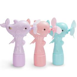 Mini plastic aniMal toys online shopping - Children Mini Dolphin Shape Spray Summer Handy Portable Hand Pressure Fan Toy Handheld Small Fans Gift For Kid tsa W