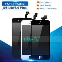 Großhandel LCD Display für iPhone 5 5S 5C 6 6 Plus Touchscreen Digitizer Assembly Ersatz LCD Touch Panel 100% getestet