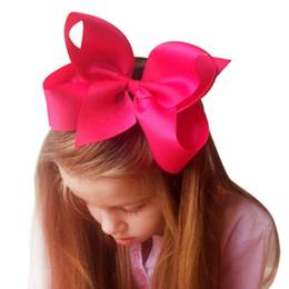 5f1922d85c71 2pcs Big Boutique Hair Pin Grosgrain Ribbon Bows Hairpins Little Girl Bows  Hair Clips Kids Headwear Haar Accessories