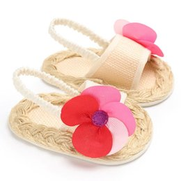 $enCountryForm.capitalKeyWord Australia - New Fashion UK Infant Girls Baby Shoes Floral Lovely Rattan Anti-slip Prewalker Toddler Sandals Shoes