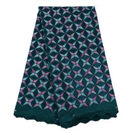 SNY1002 Vente chaude tissu de dentelle suisse pour textile à la maison, dentelle de coton africain pour la robe de soirée de mariage