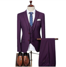 $enCountryForm.capitalKeyWord Canada - (Jacket+Vest+Pants)Men Slim Fit Suits men's Wedding Suits With Pants Business Mens Formal Wear High quality men's casual suits groom suit