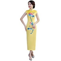 18f211fee64c Line chinese dresses cheongsam online shopping - Shanghai Story New Sale  Top Quality Long Qipao dress